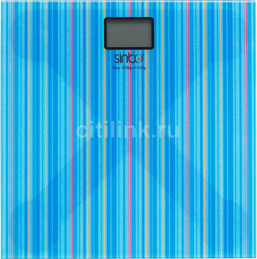 Весы SINBO SBS 4429, до 180кг, цвет: синий