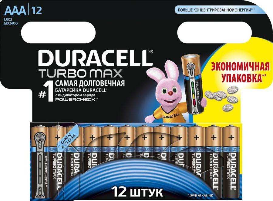 AAA Батарейка DURACELL Turbo MAX LR03-12BL,  12 шт.