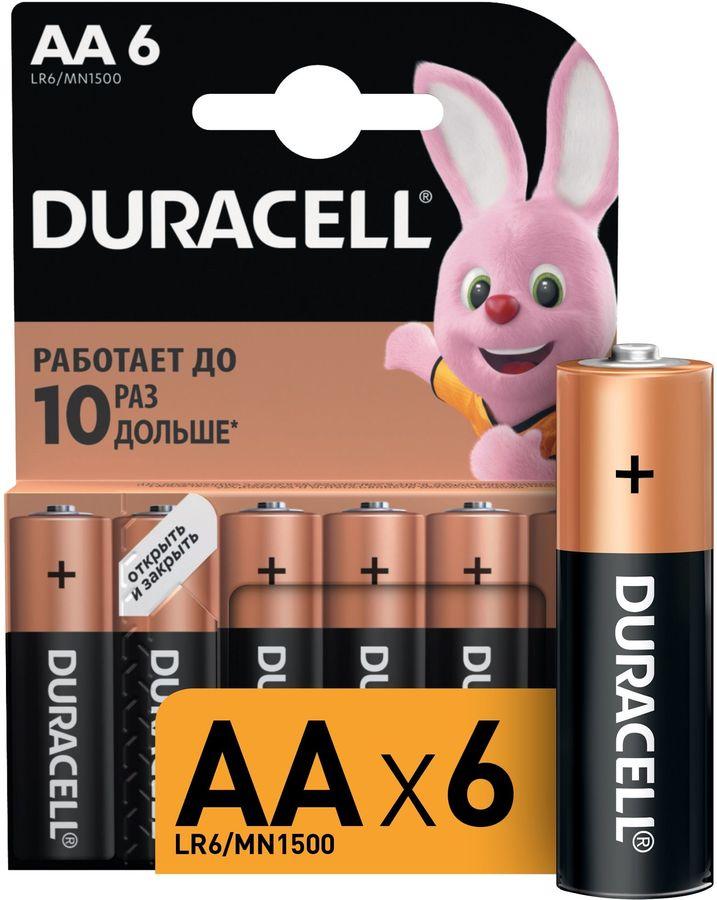 AA Батарейка DURACELL Basic LR6-6BL MN1500,  6 шт.
