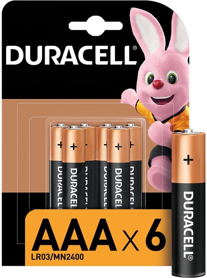 Батарейка DURACELL Basic LR03-6BL,  6 шт. AAA