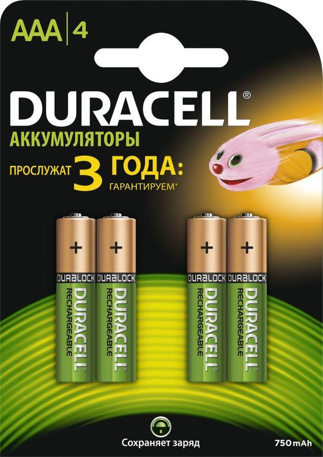 AAA Аккумулятор DURACELL HR03-4BL,  4 шт. 750мAч