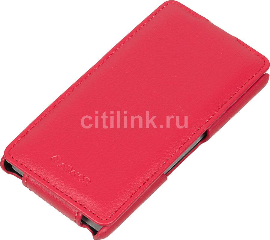 Чехол (флип-кейс) ARMOR-X flip full, для Sony Xperia E3 dual, красный