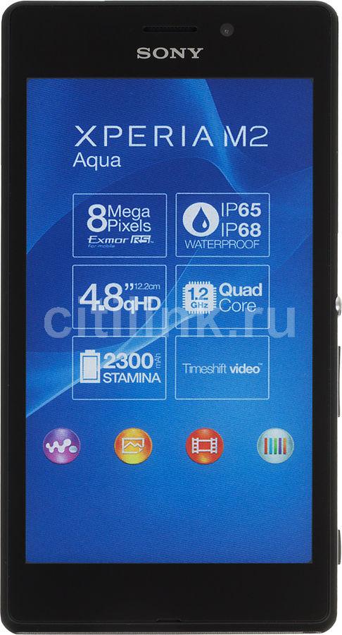 Смартфон SONY Xperia M2 aqua D2403  черный