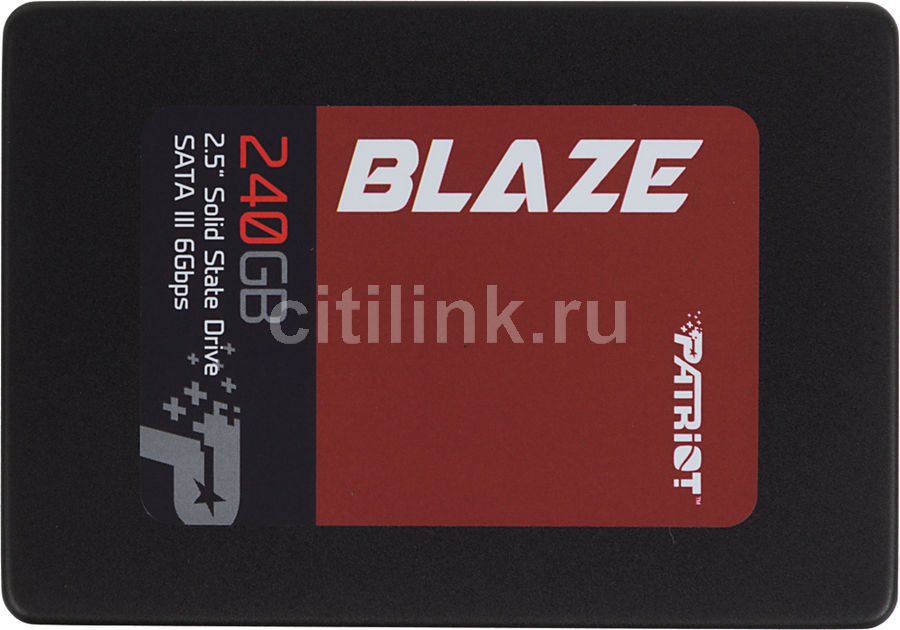 "Накопитель SSD PATRIOT Blaze PB240GS25SSDR 240Гб, 2.5"", SATA III"