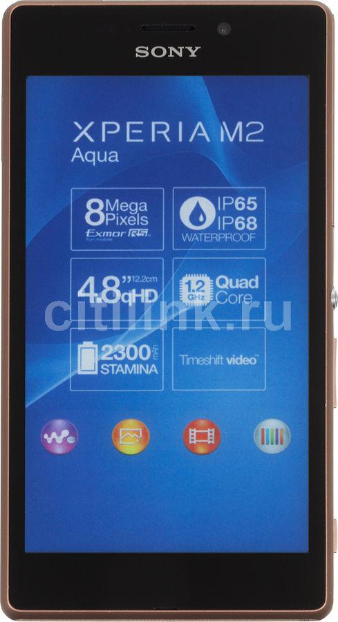 Смартфон SONY Xperia M2 aqua D2403  медный/коричневый