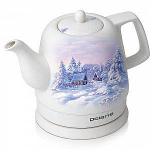 Чайник электрический POLARIS PWK1299CCR, 1500Вт, белый с узором и зима