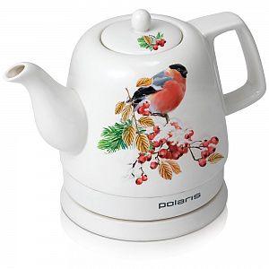 Чайник электрический POLARIS PWK1299CCR, 1500Вт, белый с узором и птица