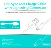 Кабель MIRACASE MAC808,  Apple iPhone 5/5c/5S Apple iPad 4/mini/Air Apple iPod touch (5), nano (7) 1.2м, розовый,  Lightning MFi -  USB вид 3