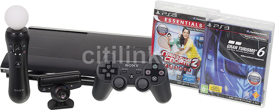 Игровая консоль SONY PlayStation 3 PS719853718, черный