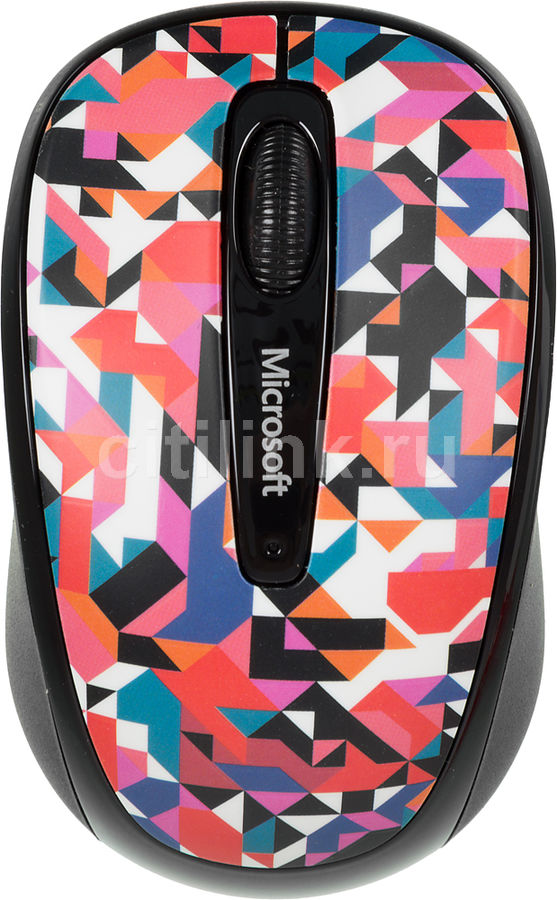 Мышь MICROSOFT Limited Edition Geometric Mobile 3500 оптическая беспроводная USB, рисунок [gmf-00401]