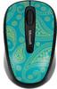 Мышь MICROSOFT Limited Edition Mint&Aqua Paisley Mobile 3500 оптическая беспроводная USB, рисунок [gmf-00411] вид 1
