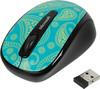 Мышь MICROSOFT Limited Edition Mint&Aqua Paisley Mobile 3500 оптическая беспроводная USB, рисунок [gmf-00411] вид 2