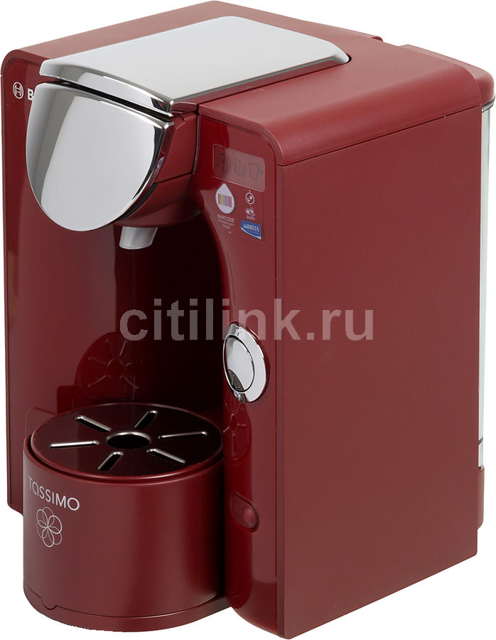 Капсульная кофеварка BOSCH Tassimo TAS5543EE, 1300Вт, цвет: красный