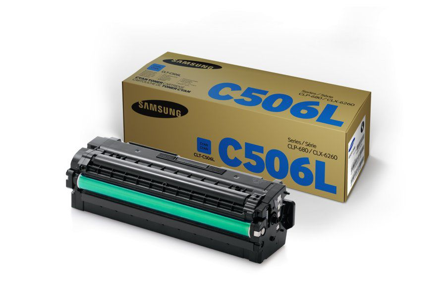 Картридж SAMSUNG CLT-C506L/SEE голубой compatible toner cartridge chip reset for samsung scx 4720 mfp 4520 laser printer free shipping