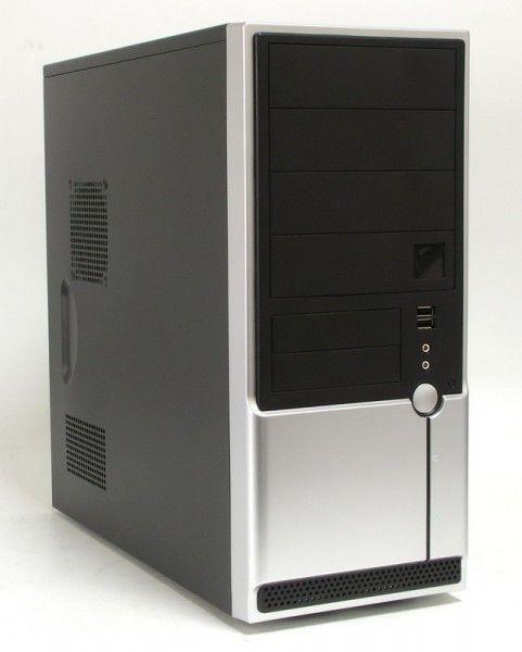 Корпус ATX FOXCONN TSAA-861, 400Вт,  серебристый и черный