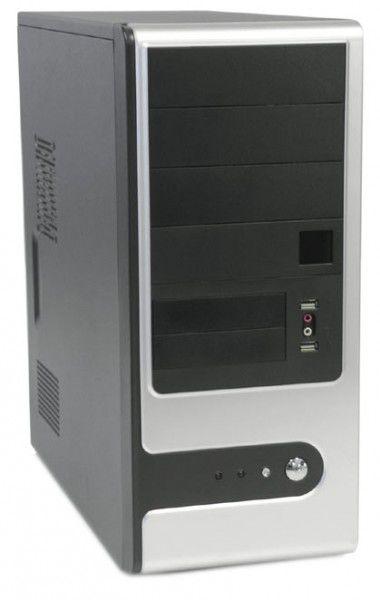 Корпус ATX FOXCONN TSAA-909, 400Вт,  черный и белый