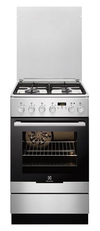 Газовая плита ELECTROLUX EKK954505X,  электрическая духовка,  нержавеющая сталь