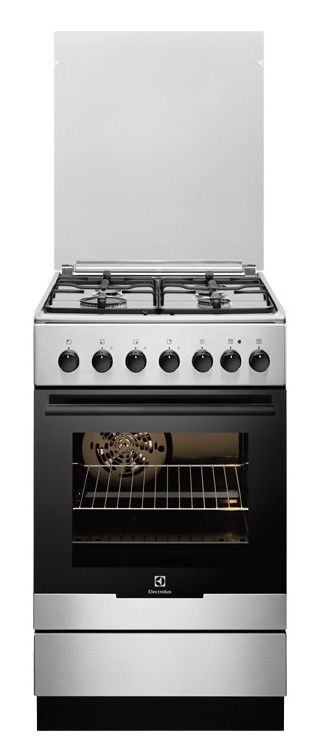 Газовая плита ELECTROLUX EKK952501X,  электрическая духовка,  серебристый