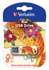 Флешка USB VERBATIM Store n Go Mini Tattoo Koi 8Гб, USB2.0, белый и узор [49882] вид 1