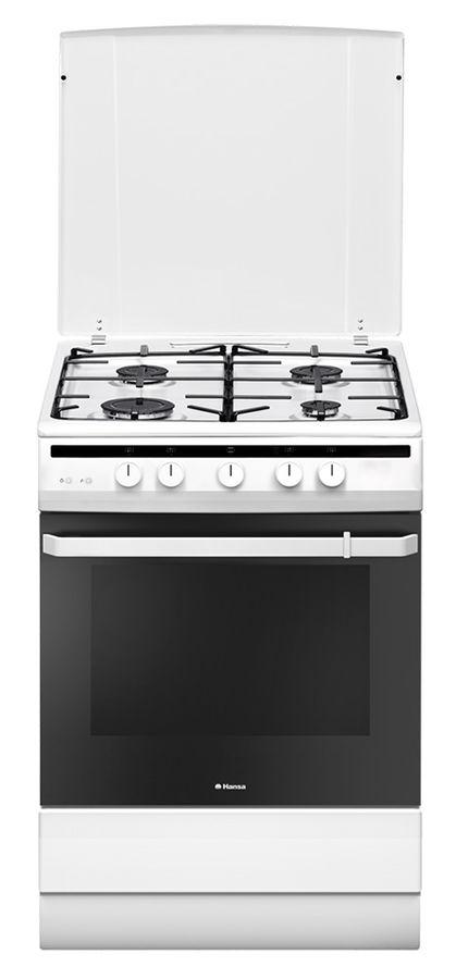 Газовая плита HANSA FCGW61001,  газовая духовка,  белый