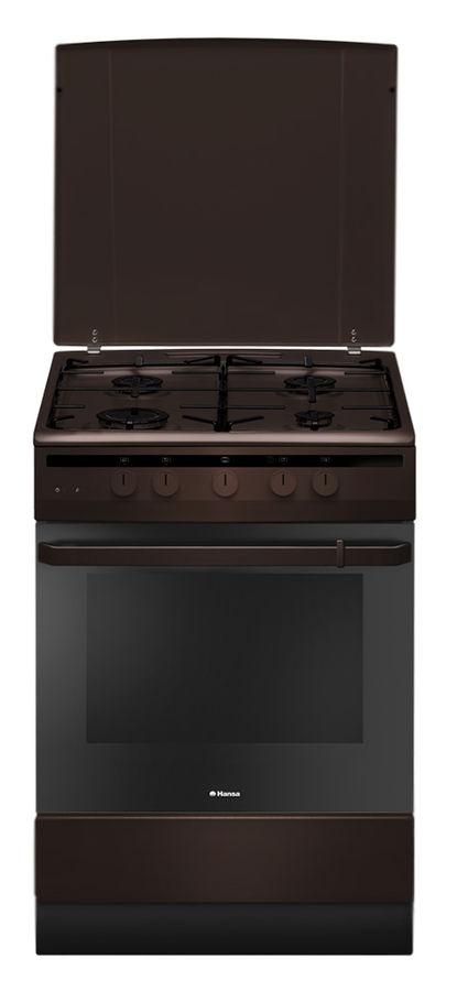Газовая плита HANSA FCGB61001,  газовая духовка,  коричневый