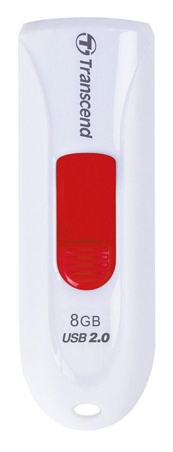 Флешка USB TRANSCEND Jetflash 590 8Гб, USB2.0, белый [ts8gjf590w]