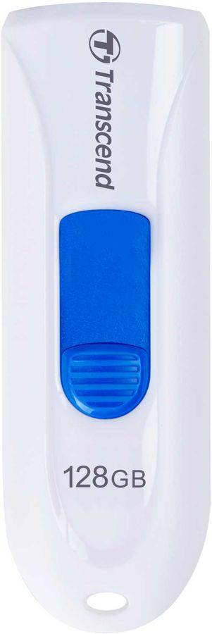 Флешка USB TRANSCEND Jetflash 790 128Гб, USB3.0, белый [ts128gjf790w]