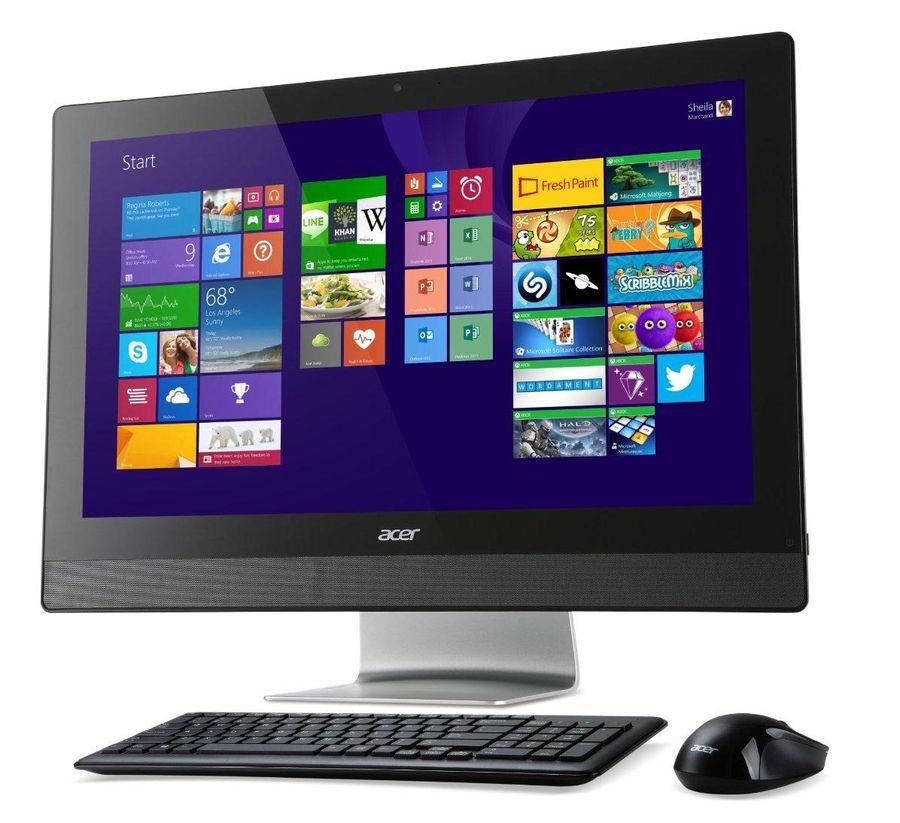 Моноблок ACER Aspire Z3-613, Intel Celeron J1900, 4Гб, 500Гб, Intel HD Graphics, DVD-RW, Free DOS, черный и серебристый [dq.swver.001]