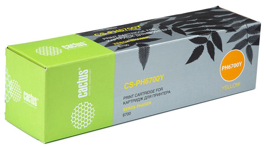 Картридж CACTUS CS-PH6700Y 106R01525,  желтый