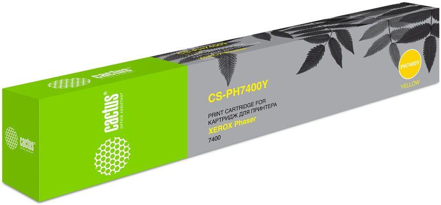 Картридж CACTUS CS-PH7400Y 106R01152,  желтый