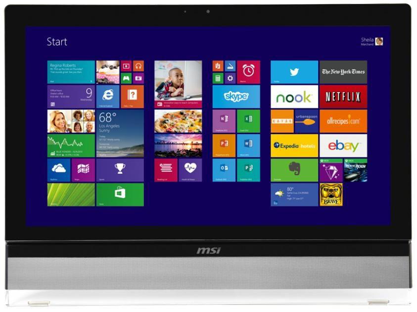 Моноблок MSI AE270G-035RU, Intel Core i3 4160, 8Гб, 1000Гб, nVIDIA GeForce GT740M - 2048 Мб, DVD-RW, Windows 8.1, черный [9s6-af1611-035]