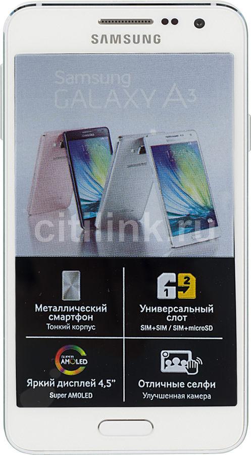 Смартфон SAMSUNG Galaxy A3 SM-A300F  16Gb, белый