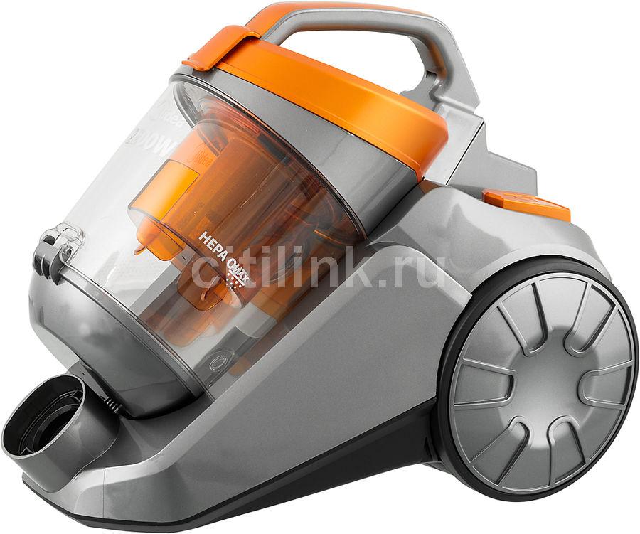 Пылесос MIDEA VCS43C2, 2200Вт, серебристый/оранжевый