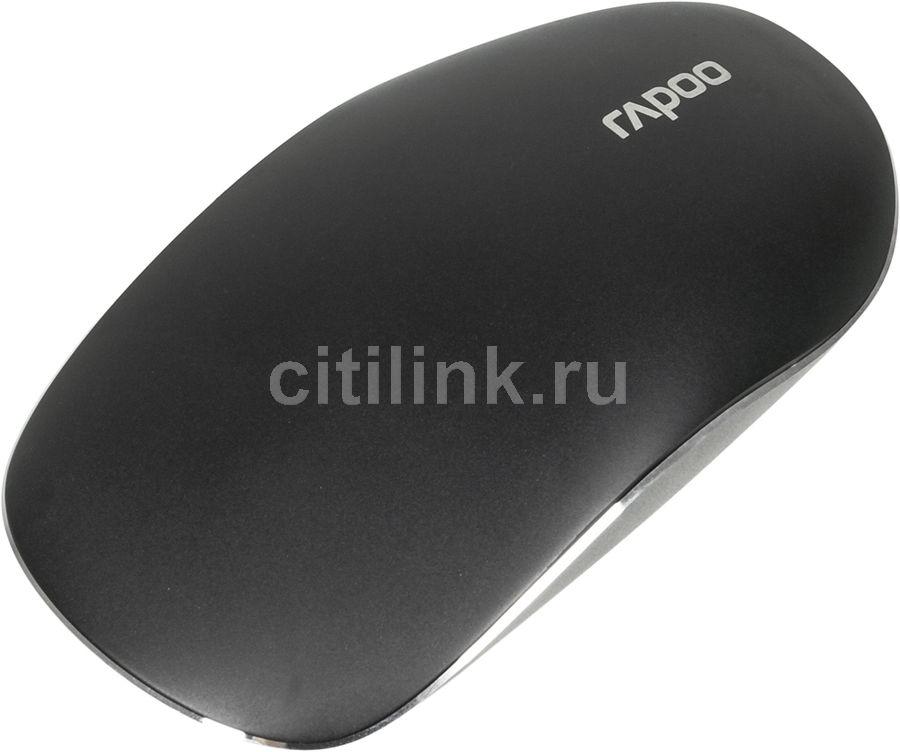 Мышь RAPOO T8 Touch лазерная беспроводная USB, черный [14506]