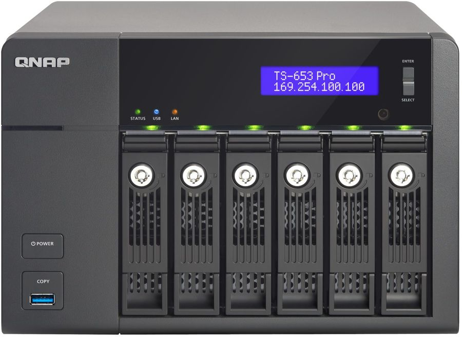 Сетевое хранилище QNAP TS-653 Pro,  без дисков