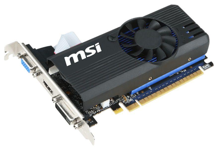 Видеокарта MSI GeForce GT 730,  N730K-2GD5LP/OC,  2Гб, GDDR5, Low Profile,  OC,  Ret