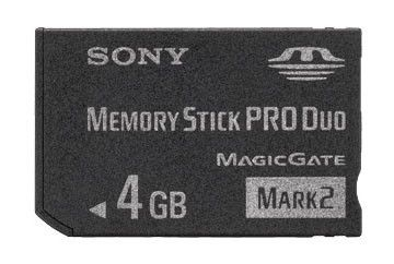 Карта памяти Memory Stick Pro Duo SONY 4 ГБ, MSMT4G