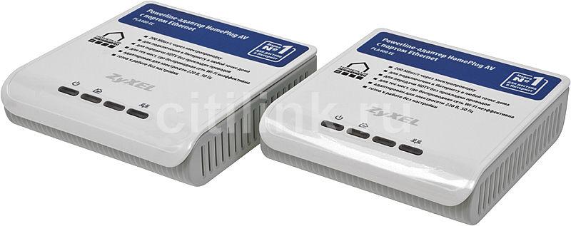 Сетевой адаптер HomePlug AV ZYXEL PLA400 EE (x2) Ethernet