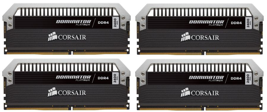Модуль памяти CORSAIR DOMINATOR PLATINUM CMD32GX4M4A2400C14 DDR4 -  4x 8Гб 2400, DIMM,  Ret
