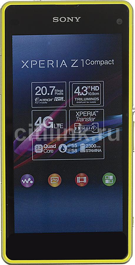 Смартфон SONY Xperia Z1 Compact D5503  зеленый/желтый