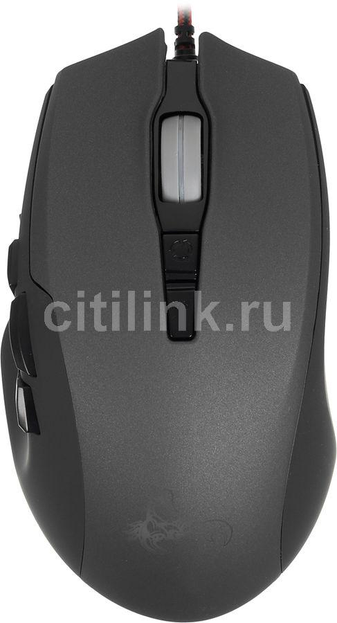 Мышь OKLICK Scorpion 785G оптическая проводная USB, черный и серый [mg-1423]