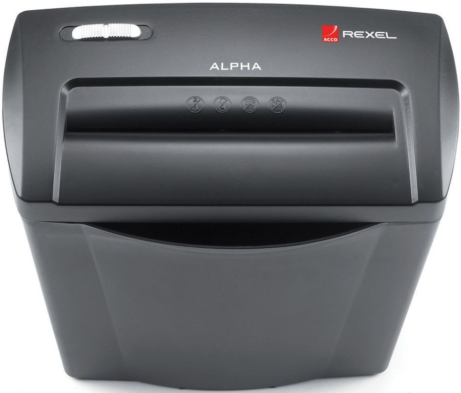 Уничтожитель бумаг REXEL AlphaX,  уровень 3,  P-4,  4х38 мм [2102023eu]