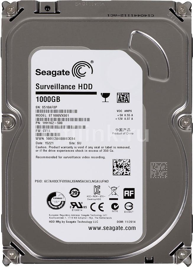 Жесткий диск SEAGATE Surveillance ST1000VX001,  1Тб,  HDD,  SATA III,  3.5