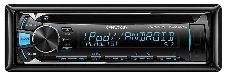 Автомагнитола KENWOOD KDC-364U,  USB