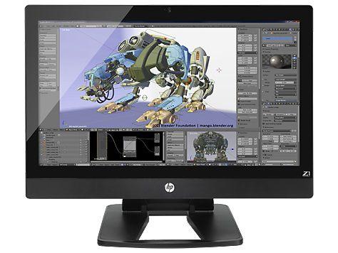 Моноблок HP Z1 G2, Intel Core i3 4160, 8Гб, 1000Гб, Intel HD Graphics 4400, DVD-RW, Windows 7 Professional, черный [j9x96es]