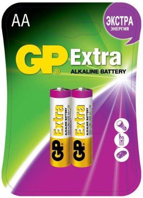Батарея GP Extra Alkaline 15AX LR6,  2 шт. AA