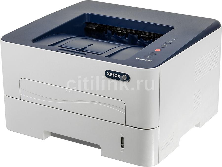 Принтер XEROX Phaser 3052NI лазерный, цвет:  белый [3052v_ni]