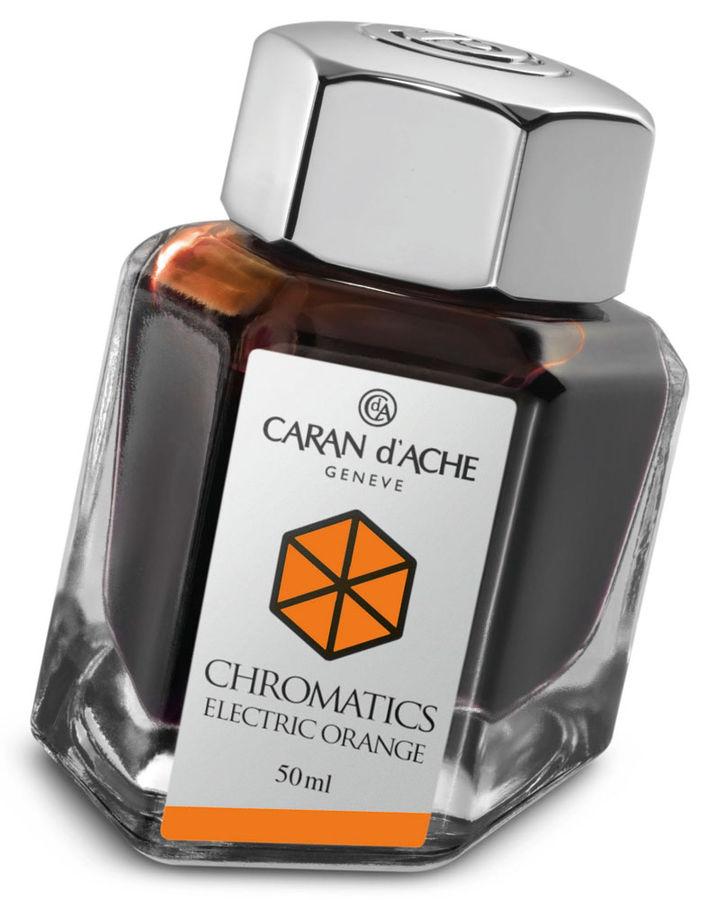 Флакон с чернилами Carandache Chromatics (8011.052) Electric orange чернила 50мл