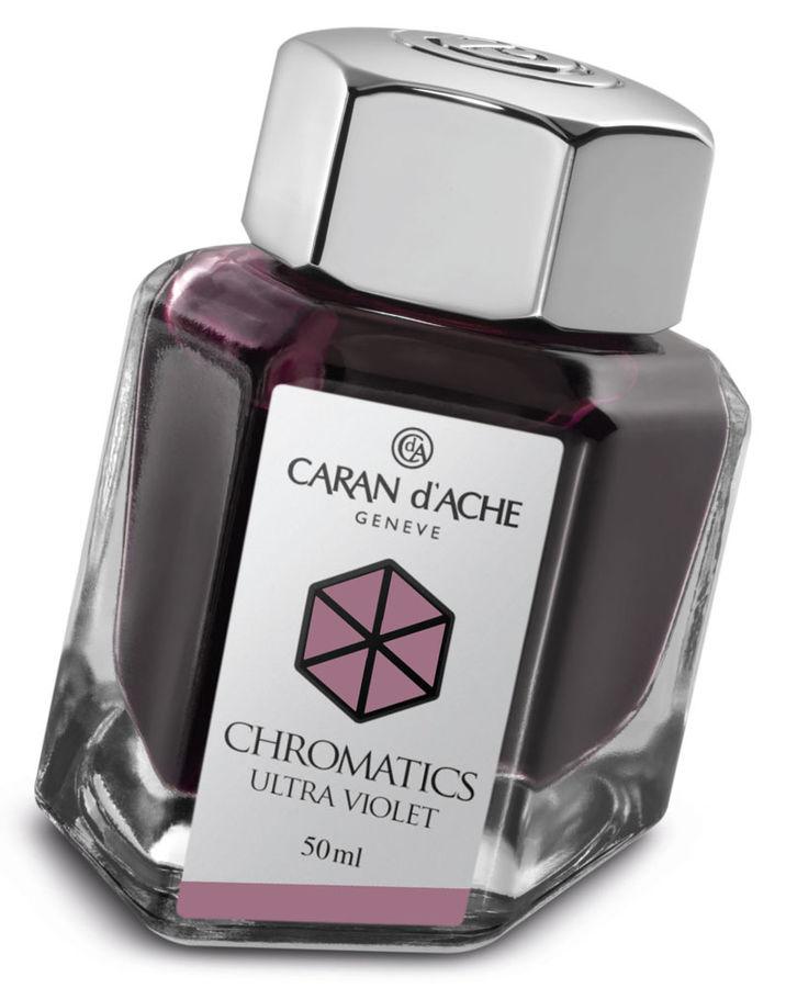 Флакон с чернилами Carandache Chromatics (8011.099) Ultraviolet чернила 50мл
