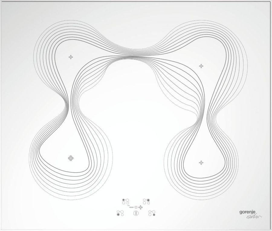 Варочная панель GORENJE Karim Rashid IT65KR,  индукционная,  независимая,  белый